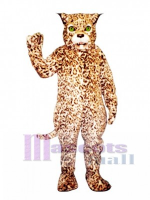 Cute Spotted Lynx Cat Mascot Costume Animal