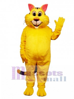 Cute Big Yeller Cat Mascot Costume Animal