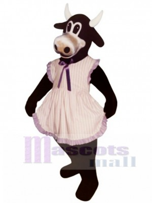 Ms.Buttercup Cattle with Apron Mascot Costume Animal
