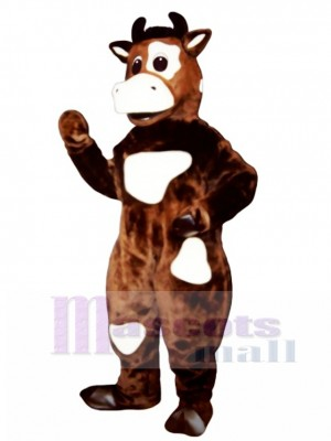 Brown Cow Mascot Costume Animal