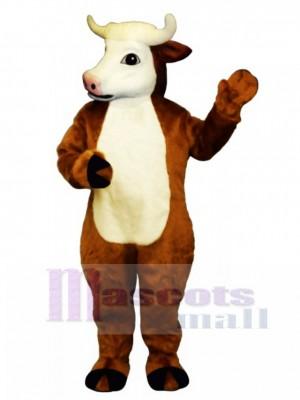 Henry Hereford Cattle Mascot Costume Animal