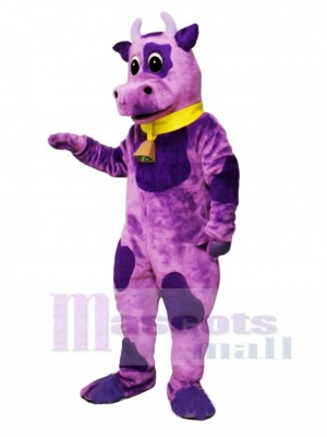 Ms Violet with Bell & Collar Mascot Costume Animal