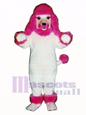 Cute Pink Poodle Dog Mascot Costume Animal