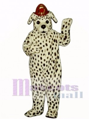 Cute Dalmatian Dog with Hat Mascot Costume Animal