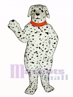 Cute Realistic Dalmatian Dog with Collar Mascot Costume Animal