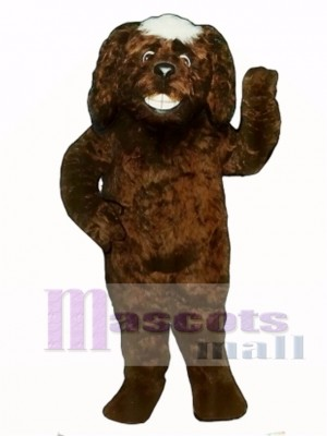 Cute Grinning Dog Mascot Costume Animal