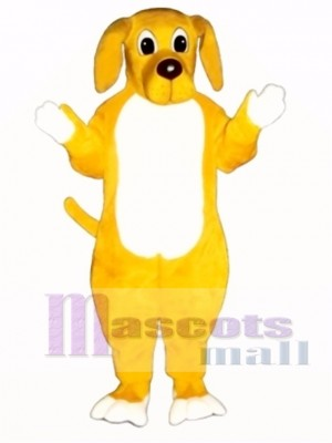 Cute Yellow Hound Dog Mascot Costume Animal