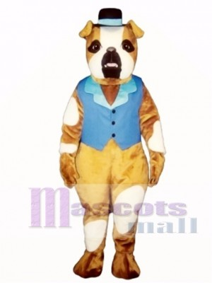 Cute Pug Dog with Hat & Vest Mascot Costume Animal