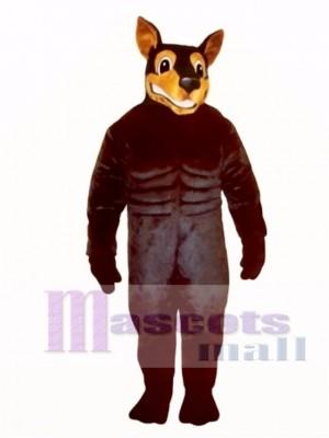 Cute Doberman Dog Mascot Costume Animal