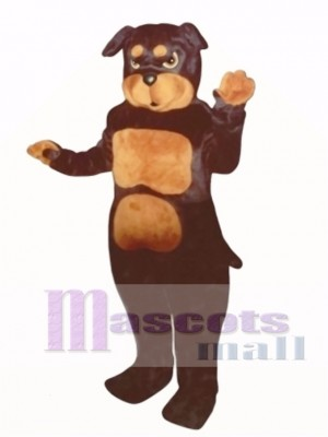 Cute Rottweiler Dog Mascot Costume Animal