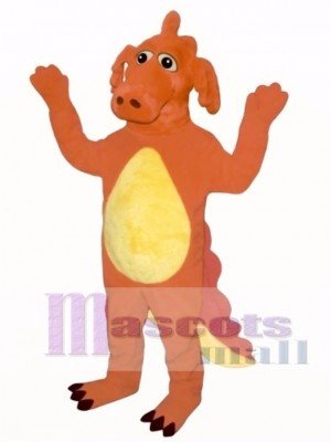 Red Dragon Mascot Costume Animal