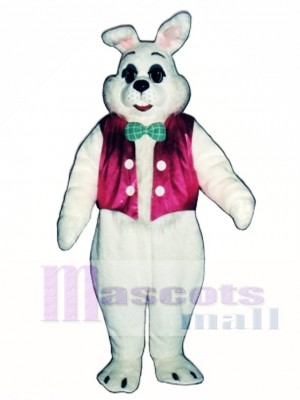 Easter Bunny Rabbit with Vest & Bowtie Mascot Costume Animal