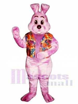 Easter Lavender Louie with Vest Bunny Rabbit Mascot Costume Animal