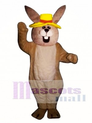 Easter Jolly Bunny Rabbit with Hat Mascot Costume Animal