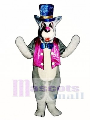 Cute Wolf A-Mania with Vest Mascot Costume Animal