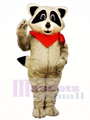 Raccoon with Neckerchief Mascot Costume Animal