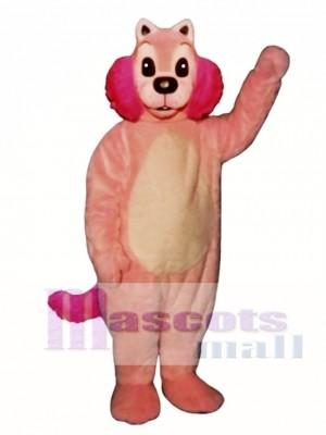 Pink Mink Mascot Costume