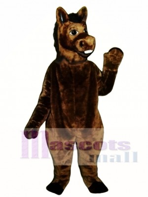 Cute Brown Donkey Mascot Costume Animal