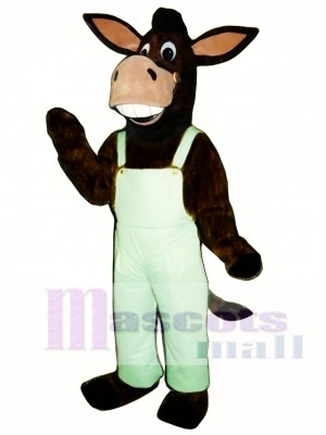 Cute Laughing Donkey Mascot Costume Animal