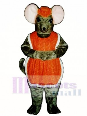 Granny Mouse with Glasses, Hat & Apron Mascot Costume Animal