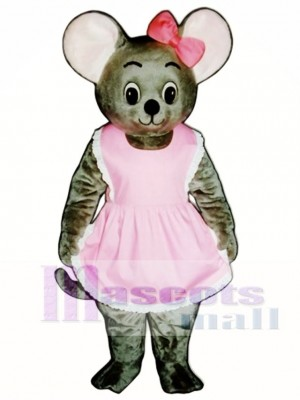 Mitzi Mouse with Apron & Bow Mascot Costume Animal