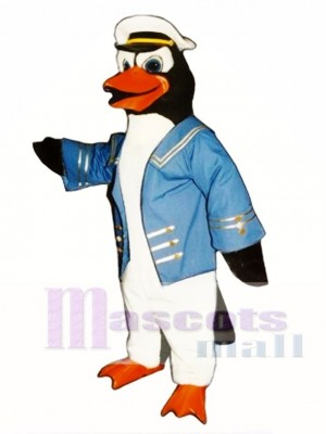 Cute Admiral Perry Penguin Mascot Costume