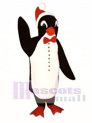 Santa Penguin with Bowtie & Hat Mascot Costume