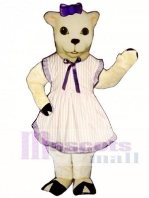 Lamb with Apron & Bow Mascot Costume Animal