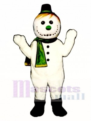 Flakey Snowman with Hat & Scarf Christmas Mascot Costume Christmas Xmas