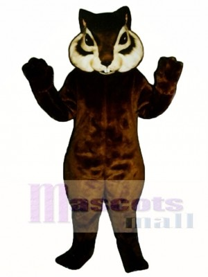 Realistic Chipmunk with Short Tail Mascot Costume
