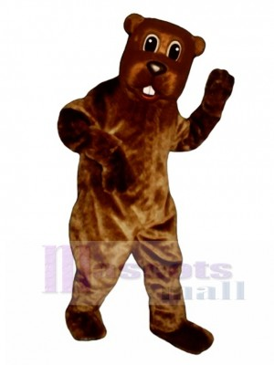 Woody Beaver Mascot Costume Animal