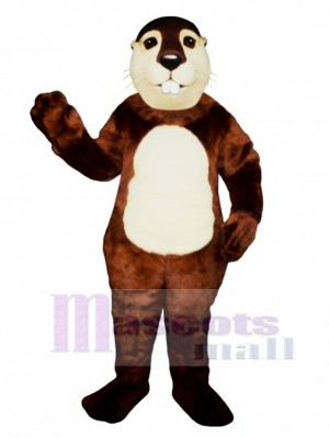 Fat Beaver Mascot Costume Animal