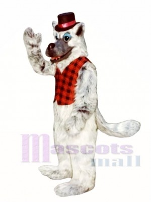 Bad Wolf with Hat & Vest Mascot Costume Animal