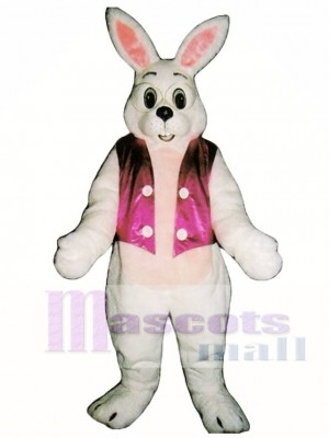 Cute Easter Bunny Rabbit with Vest Mascot Costume Animal