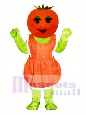 Ms. Tomato with Apron Mascot Costume Plant