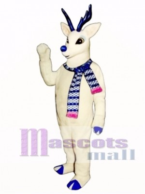 Cute Snow Deer with Scarf Mascot Costume Animal