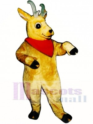 Cute Andy Antelope with Neckerchief Mascot Costume Animal