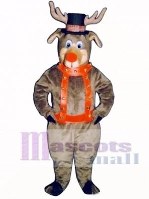 Roscoe Reindeer with Halter & Hat Mascot Costume Animal