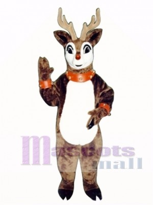 Blinker Deer with Lite-up Nose, Collar & Cuffs Christmas Mascot Costume Animal