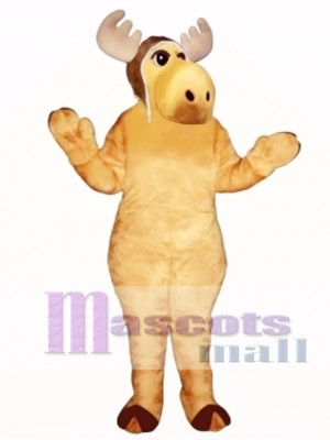 Cute Flying Moose with Hat Mascot Costume Animal