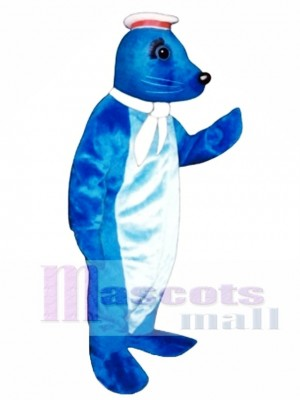 Cute Navy Seal with Sailor Hat & Scarf Mascot Costume Animal