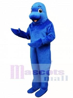 Cute Blue Fish Mascot Costume Animal