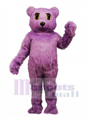 New Purple Bear Mascot Costume Animal