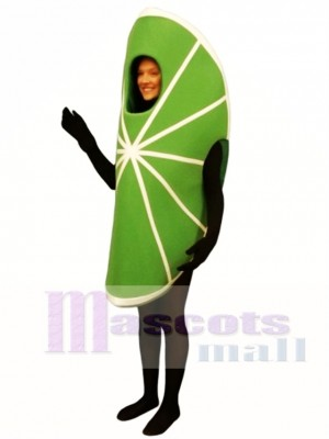 Lime Wedge Mascot Costume Fruit