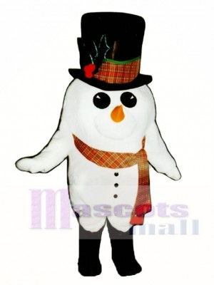 Madcap Snowman with Boots & Scarf Mascot Costume Christmas Xmas
