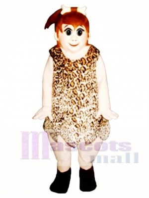 Cave Girl Mascot Costume People