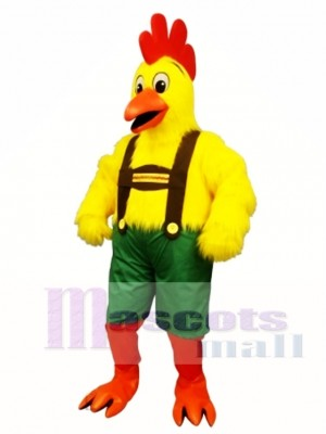 Cute Chicken Yodel Mascot Costume Poultry