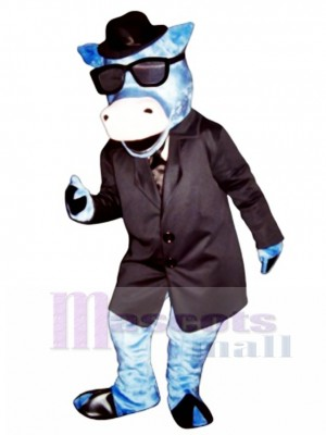 Blues Moo Cattle Mascot Costume Animal