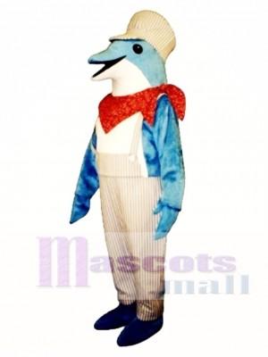 Netter Delphin Maskottchen Kostüm Ozean