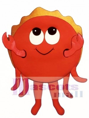 Cute Happy Crab Mascot Costume Animal